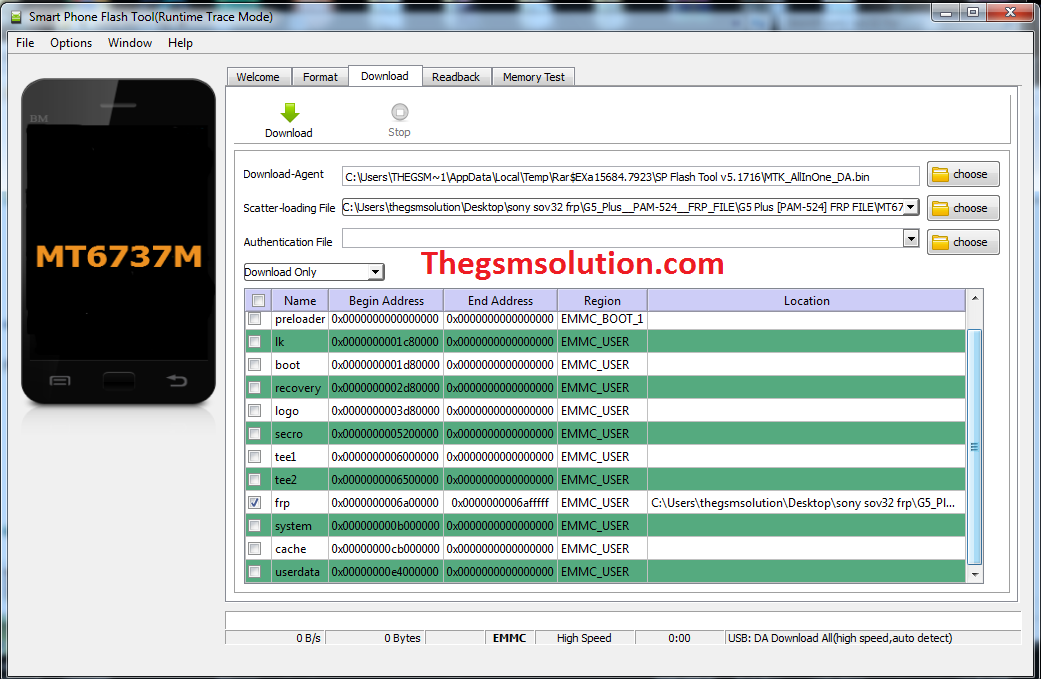 SP Flash Tool For FRP Unlock in MTK Without Data Loss  - Thegsmsolution