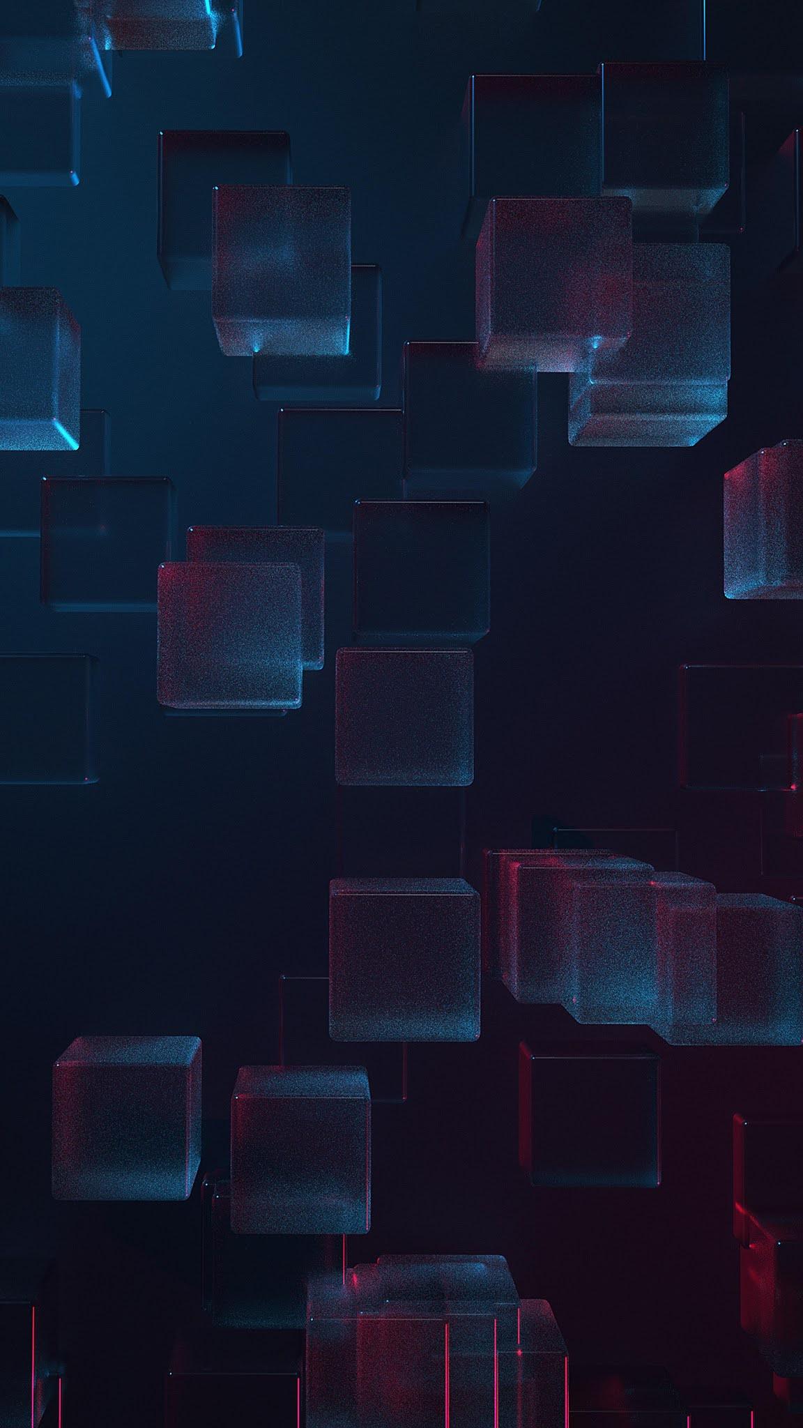 blue crystal boxs pattern mobile wallpaper