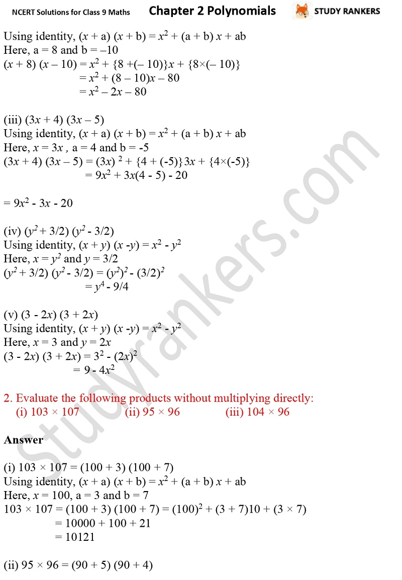 NCERT Solutions for Class 9 Maths Chapter 2 Polynomials Part 19
