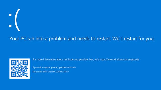 حل مشكلة الشاشة الزرقاء فى الويندوز