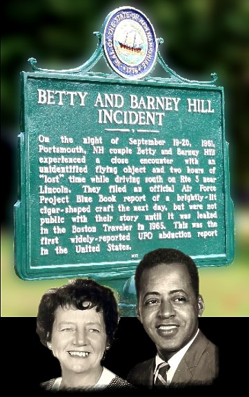 Barney & Betty Hill Memorial Plaque