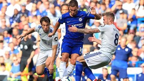 Cầu thủ Eden Hazard sở hữu lối chơi tấn công máu lửa