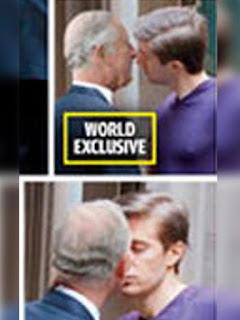 Foto Pangeran Charles Sedang Ciuman dengan Sesama Lelaki
