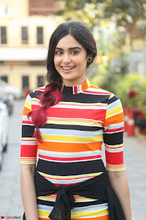 Adha Sharma in a Cute Colorful Jumpsuit Styled By Manasi Aggarwal Promoting movie Commando 2 (2).JPG