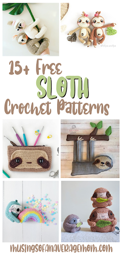Free Sloth crochet patterns
