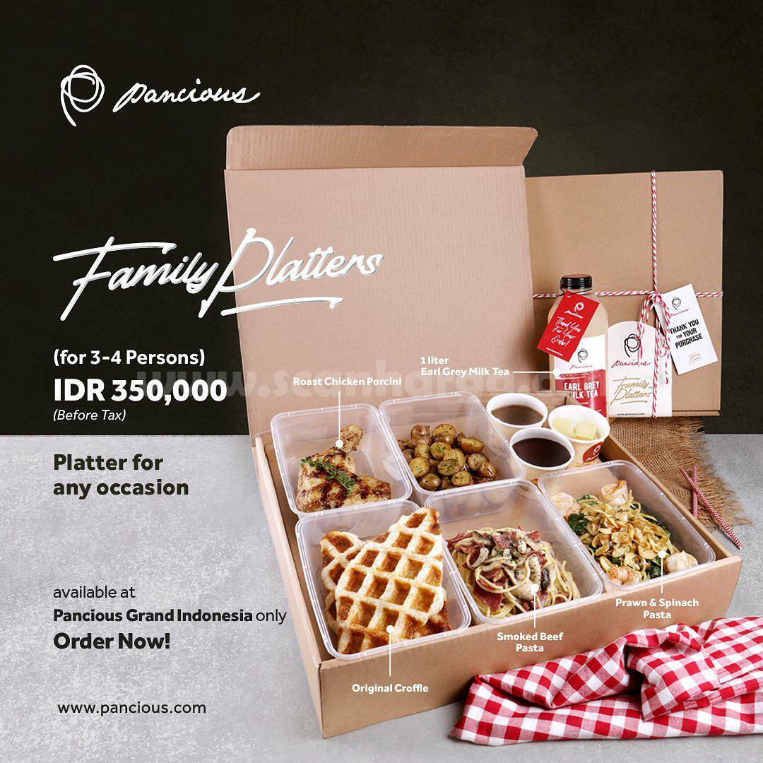 Pancious Family Platters [For 3 - 4 Persons] IDR. 350.000