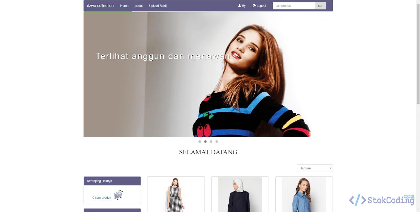 Sistem Aplikasi Toko Baju Berbasis Web (PHP)
