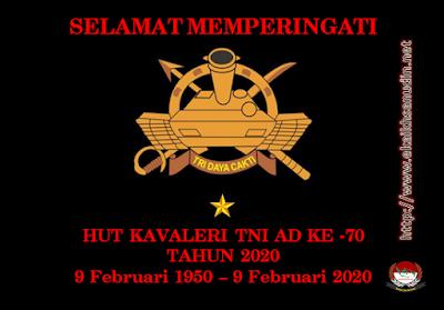Dirgahayu Kavaleri TNI AD Ke - 70 Tahun 2020