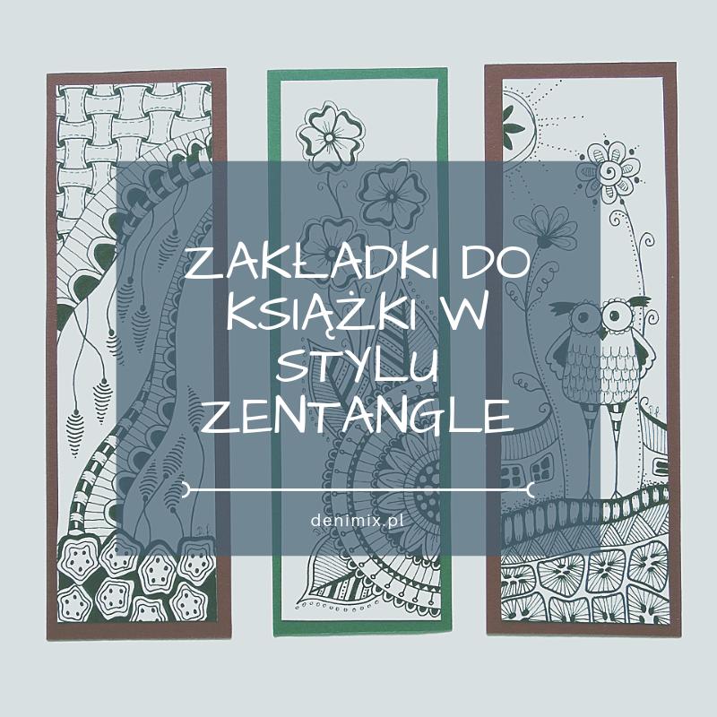 zakładki do książek w stylu Zentangle