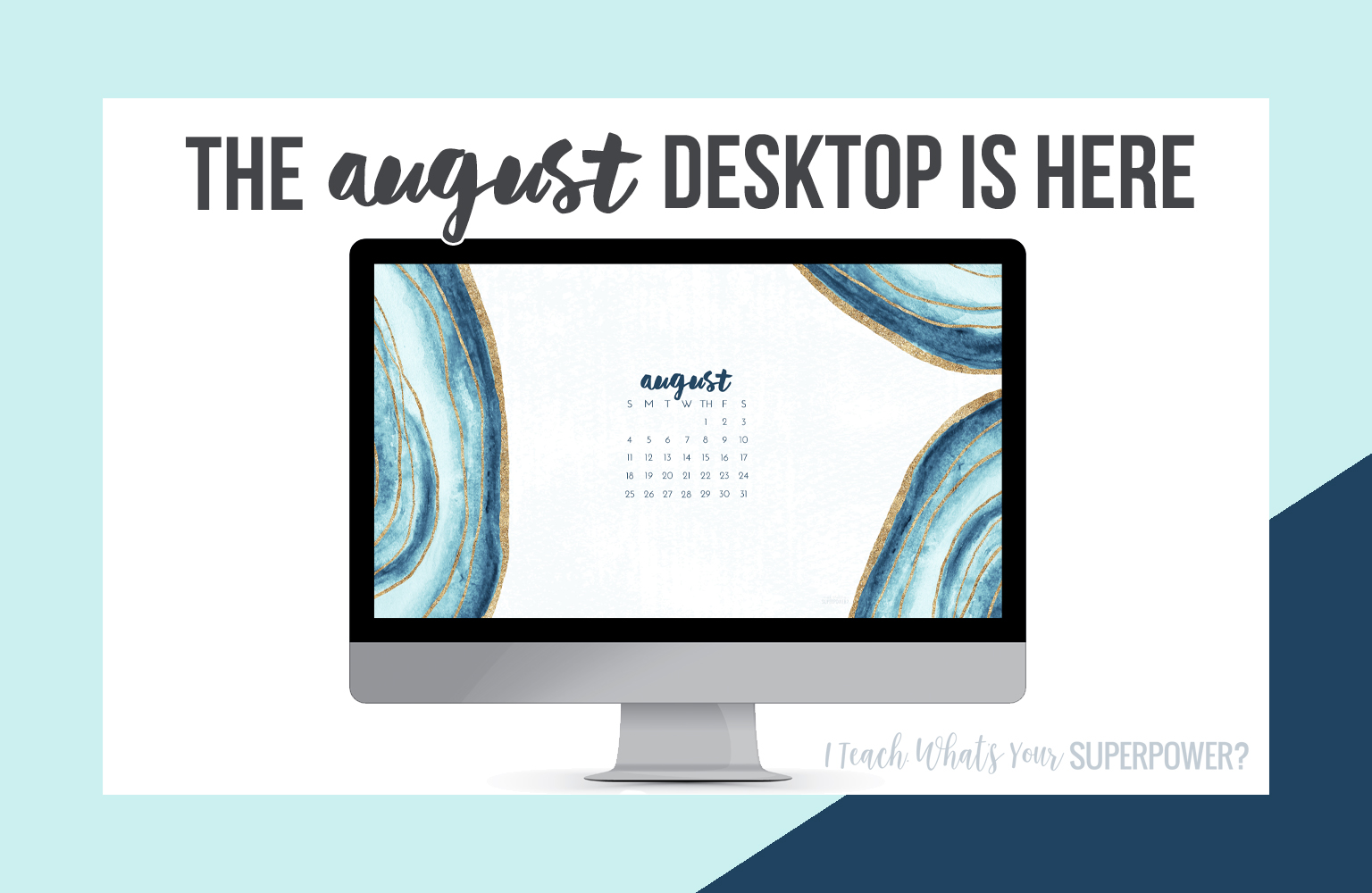 • August 2019 • Computer Desktop Calendar Background and matching iPhone Backgrounds