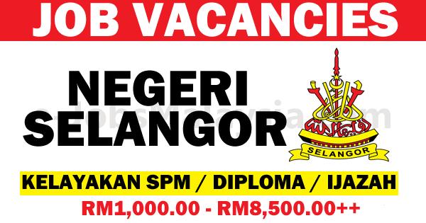 Jawatan Kosong Terbuka Negeri Selangor Darul Ehsan