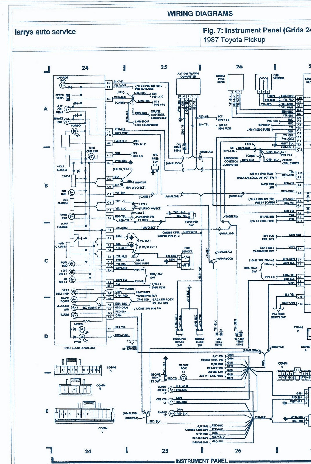 1987 Toyota Pickup 4wd 22r engine Wiring Diagram | Auto ...