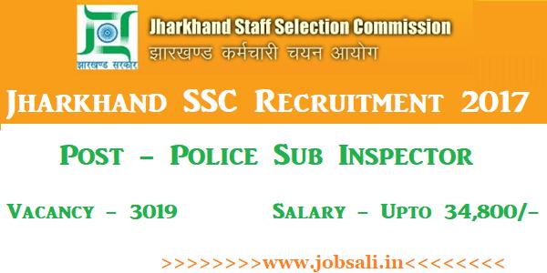 JSSC Police Sub Inspector Vacancy, JSSC Notification, Jharkhand Govt jobs