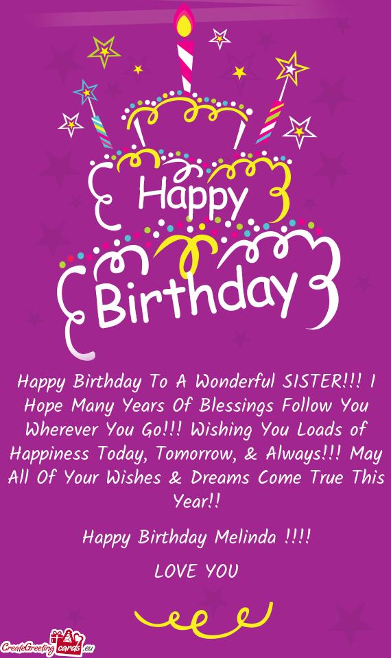 Happy Birthday Sister
