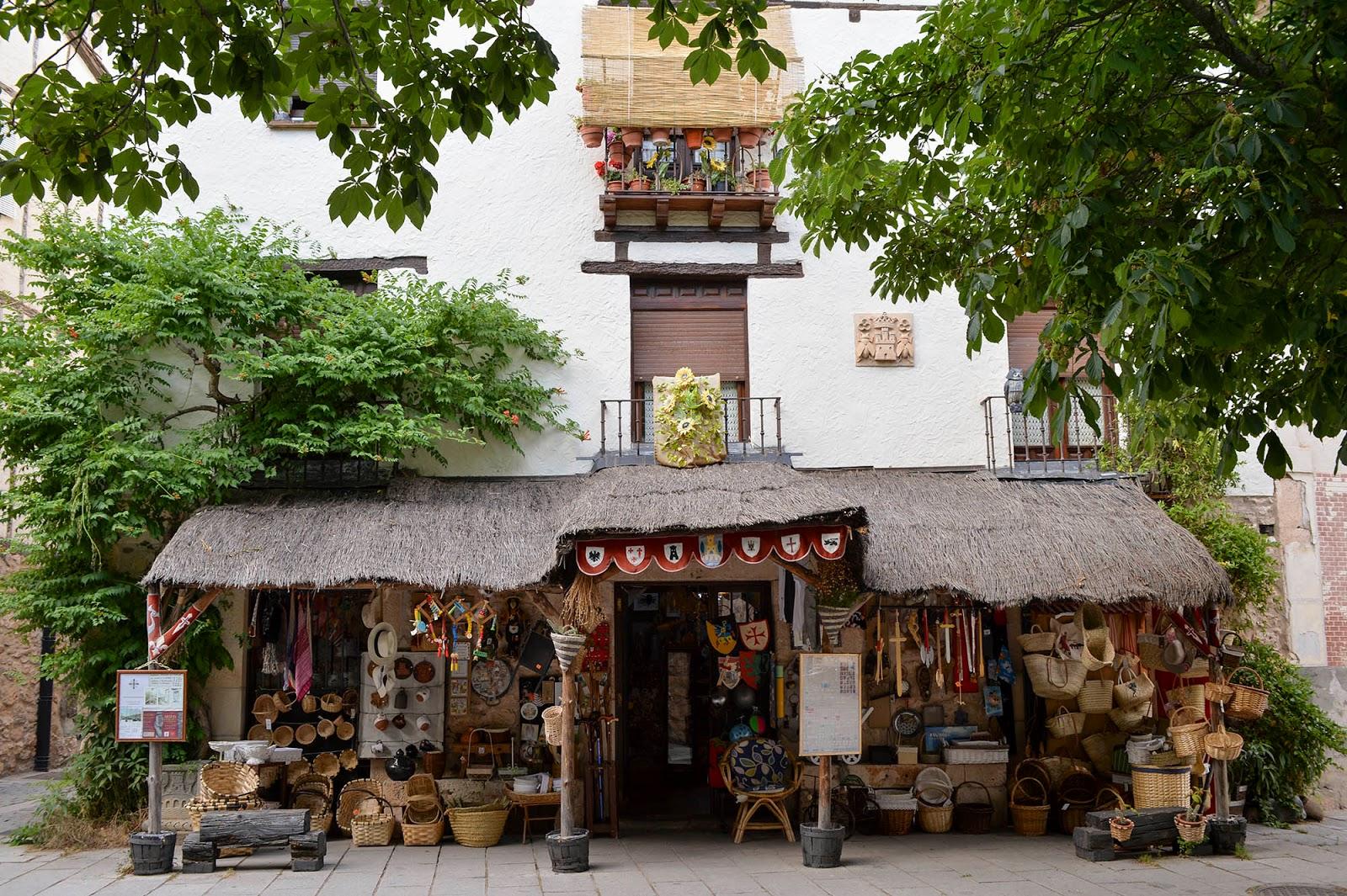 covarrubias burgos spain castile leon timber house beautiful village