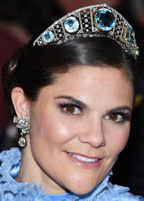 aquamarine kokoshnik tiara sweden crown princess victoria