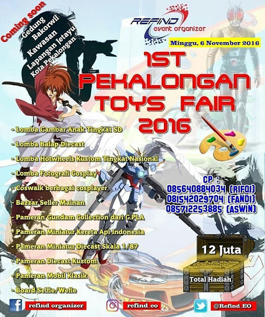 Event Pekalongan | 6 November 2016 | Pekalongan Toys Fair 2016