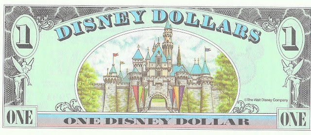 Disney Dollar Sleeping Beauty Castle Disneyland 1998