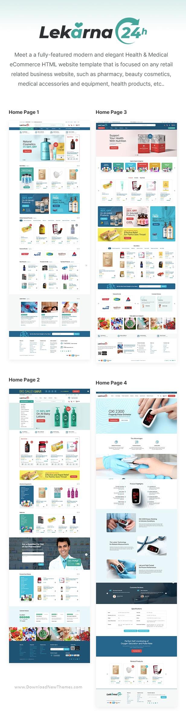 Health & Medical eCommerce Website Template