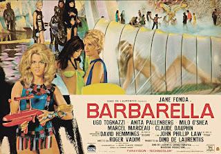 Póster promocional película Barbarella