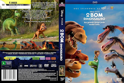 Filme O Bom Dinossauro (The Good Dinosaur) DVD Capa