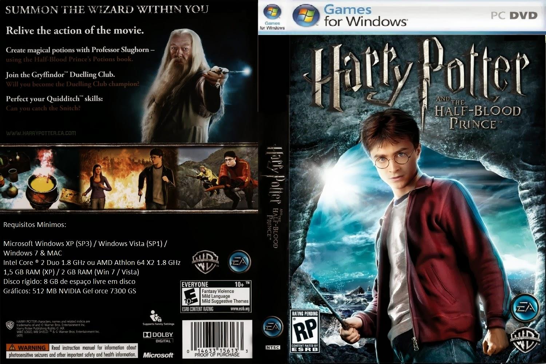 Harry Potter e o Enigma do Principe PC DVD Capa
