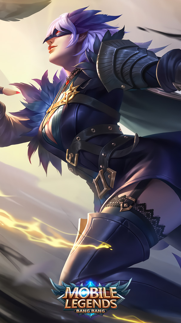 Wallpaper Natalia Midnight Raven Skin Mobile Legends HD for Android and iOS