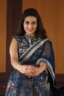 Actress Manjusha Pictures in Saree at Srirastu Subhamastu Song Launch  0157.JPG
