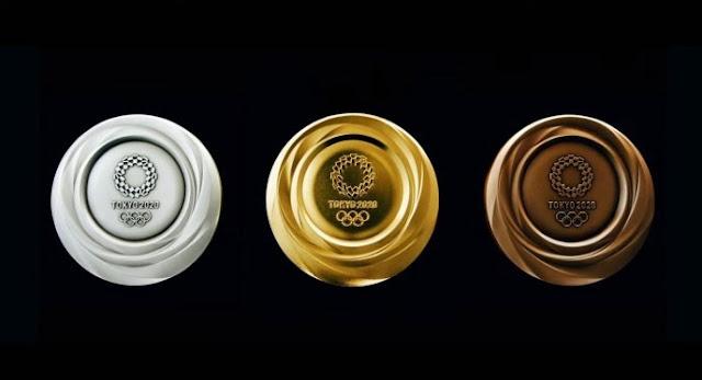 Bentuk Medali Olimpiade Tokyo 2020