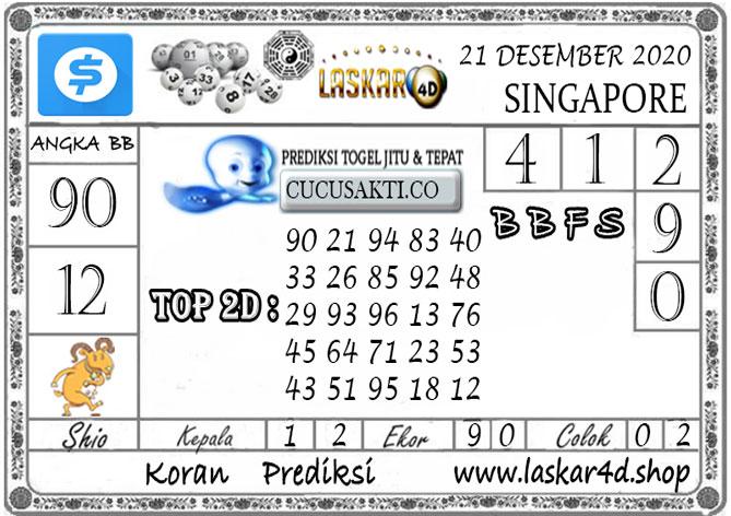 Prediksi Togel SINGAPORE LASKAR4D 21 DESEMBER 2020