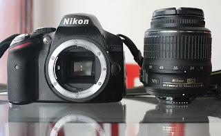 Jual Nikon D3200 + Lensa 18-55mm VR