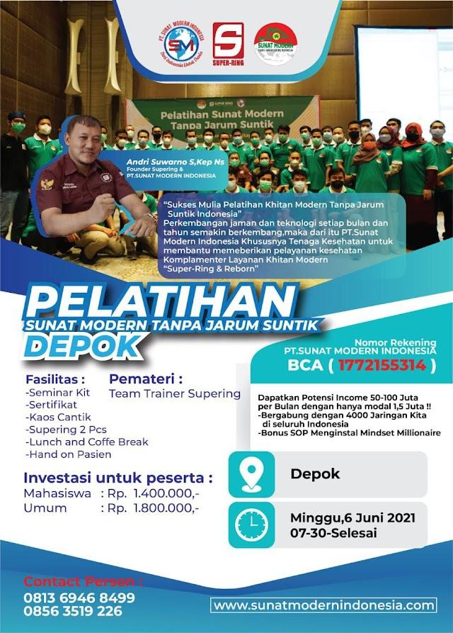 Pelatihan Sunat Modern Tanpa Jarum Suntik Lokasi Jakarta Depok