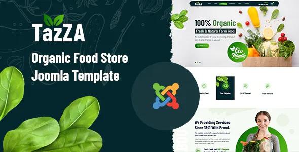 Best Organic Food Store Joomla Template
