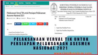Pelaksanaan Verval TIK untuk Persiapan Pelaksanaan Asesmen Nasional 2021