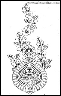 modern hand embroidery patterns, embroidery flowers design sketch.