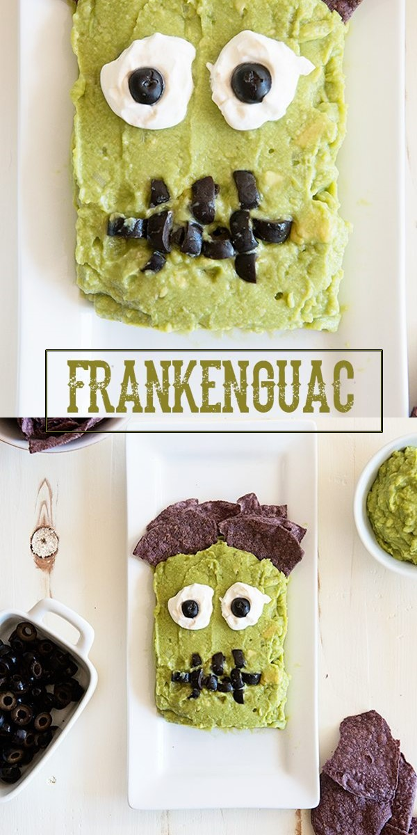 Frankenguac Halloween Party Appetizer Recipe #halloweenrecipes