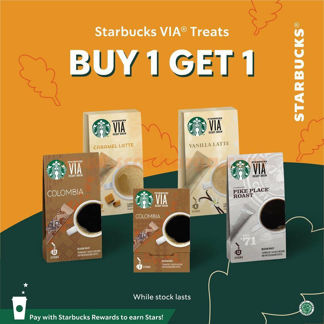 Promo STARBUCKS BELI 1 GRATIS 1 untuk minuman 1 Liter