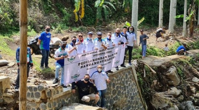 Ikatan Motor Besar Indonesia Ringankan Beban Korban Banjir Bandang Sukabumi