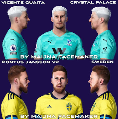 PES 2021 Faces Vicente Guaita & Pontus Jansson by Maijna
