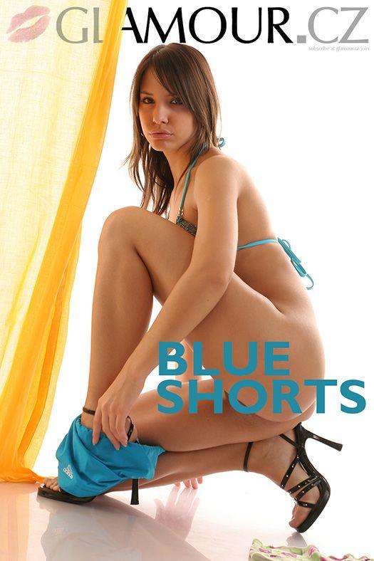 Yvftse9R Glamour.cz - Monika - Set 87 - Blue Shorts