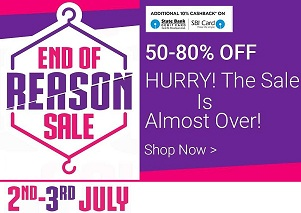 Myntra End of Reason Sale: Flat 50% to 80% Off on Men's & Women's Clothing + Extra 10% Cashback on SBI Debit / Credit Card (LAST DAY)