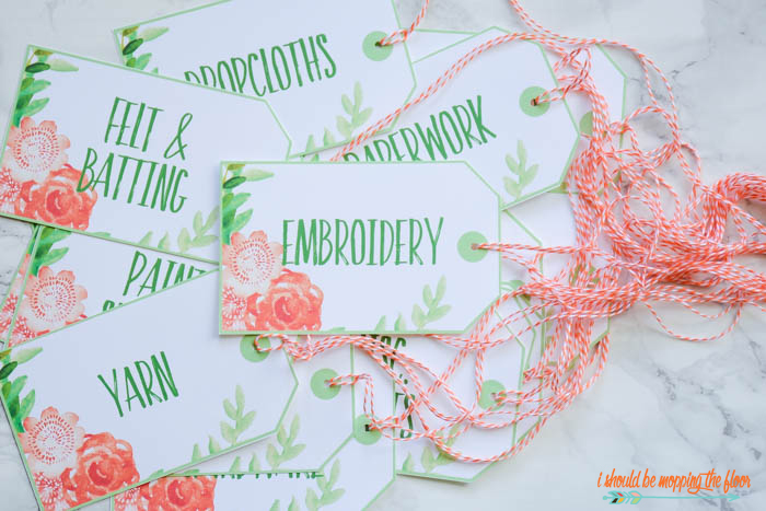 Free Printable Watercolor Tags | These print four to a sheet and are perfect for organizing or gift giving. They have a lovely, soft, floral watercolor design.