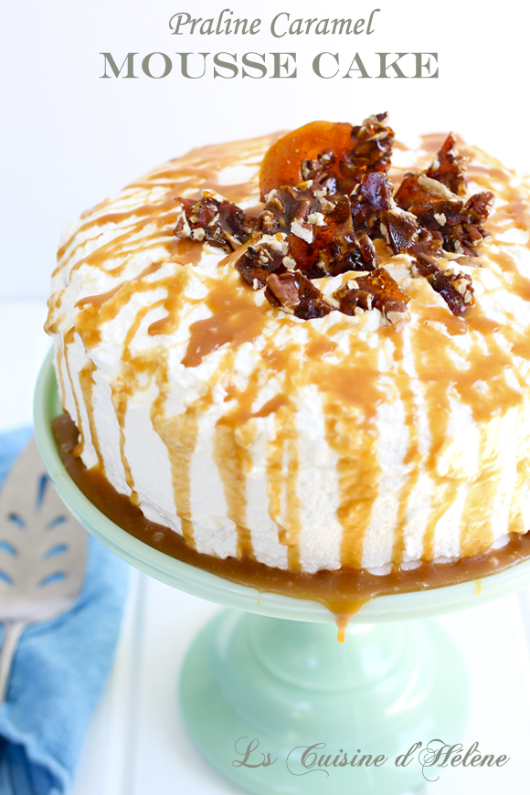 praline caramel mousse cake