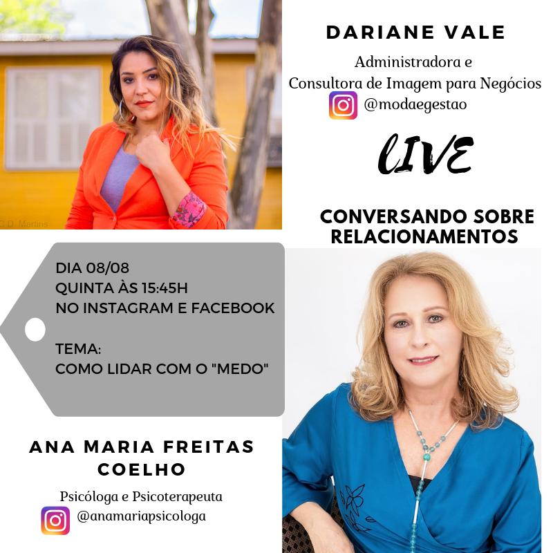 Live: Como lidar com o Medo com Ana Maria Coelho