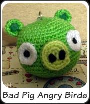 Bad Pig de Angry Birds amigurumi