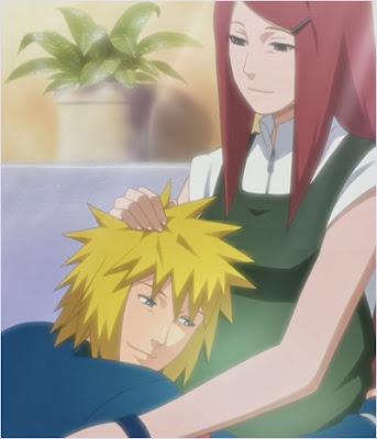 คุชินะกับมินาโตะในช่วงตั้งท้อง
