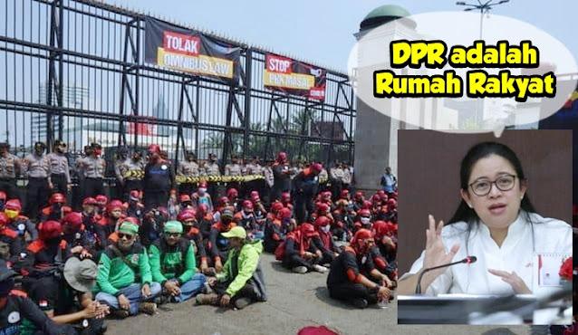 Puan: DPR adalah Rumah Rakyat, Terbuka untuk Buruh yang Ingin Sampaikan Aspirasi