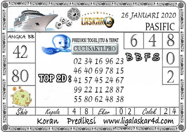 Prediksi Togel PASIFIC LASKAR4D 26 JANUARI 2020