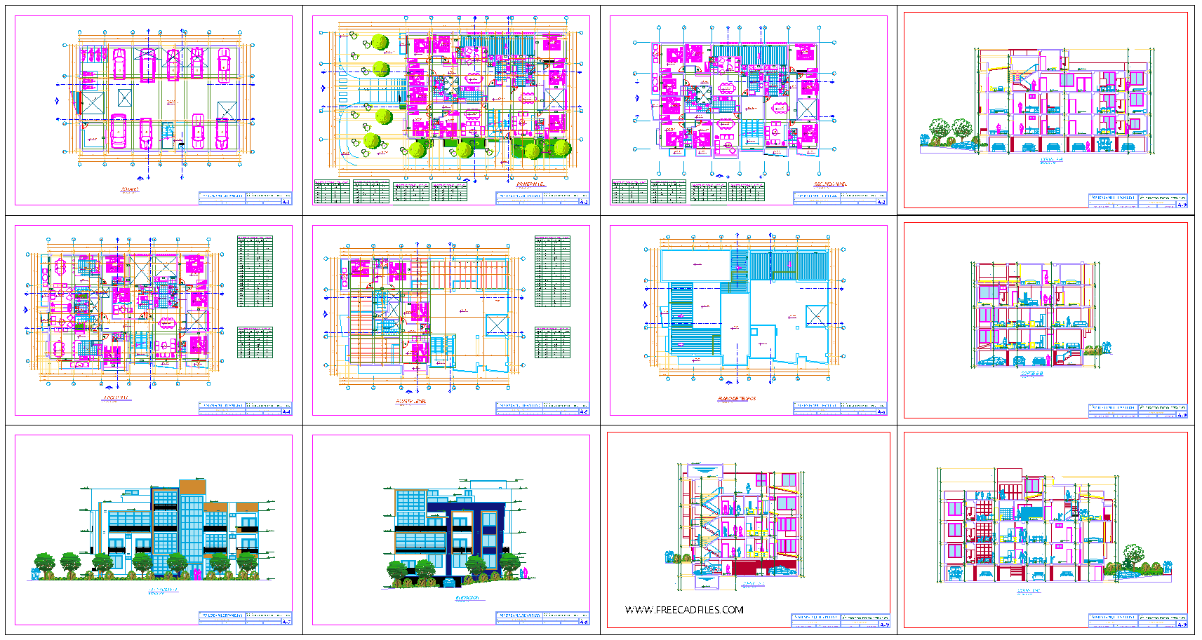 The Luxury Apartment Building Project Dwg
