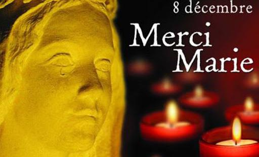 affiche 8 decembre merci Marie